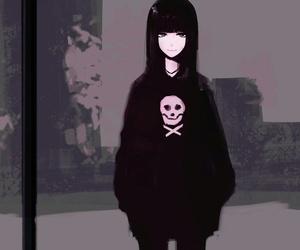 anime, black, and art image