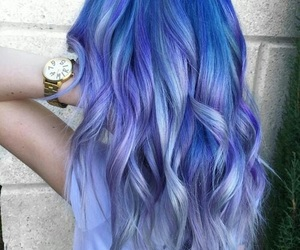 hair, blue, and beautiful image