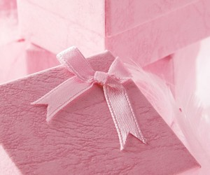 pink, present, and background image