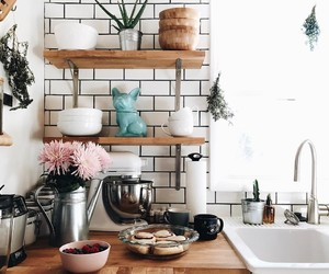 design, flowers, and kitchen image