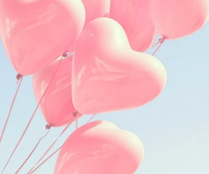 pink, wallpaper, and balloons image