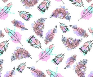 pattern and feather image