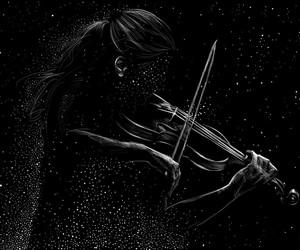 black, girl, and music image