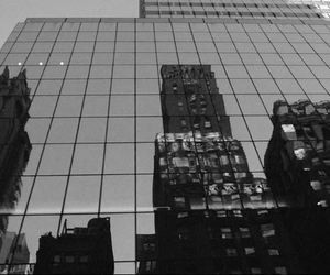 black and white, buildings, and cities jungle of stones image