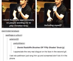 daniel radcliffe, funny, and robert pattinson image