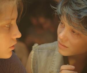 film, la vita di adele, and blueisthewarmestcolor image