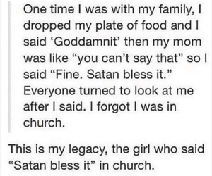 funny, satan, and tumblr image