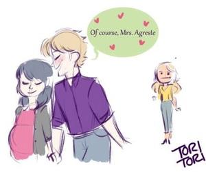 Adrien, ladybug, and marinette image