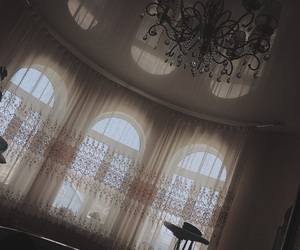 bedroom, chandelier, and house image