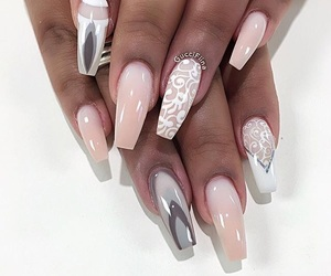 nails, beauty, and coffin image