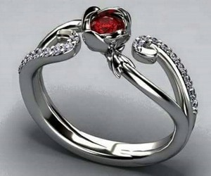 ring, red, and diamond image