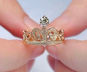 crown, ring, and gold image