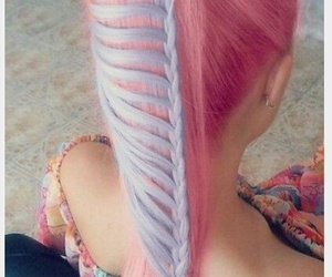 hair, pink, and spring hairstyle image