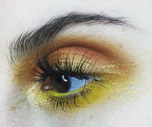 eye and yellow image
