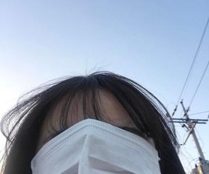 girl, asian, and mask image