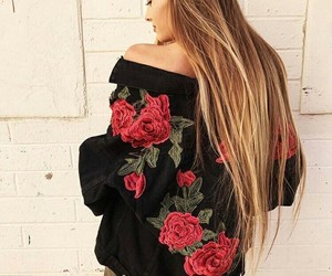 rose, fashion, and black image