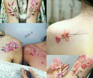 flower, tattoo, and pink image