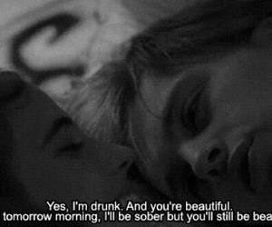 love, beautiful, and drunk image