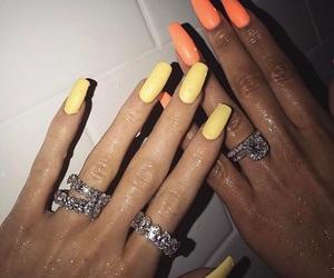 nails, rings, and orange image