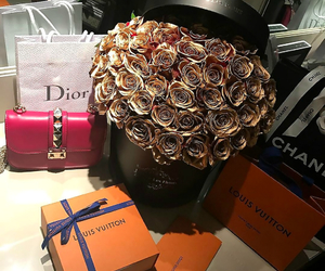 luxury, rose, and dior image