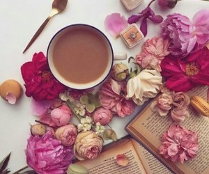 book, coffee, and relaxing image