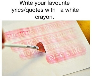 diy, crayon, and quotes image