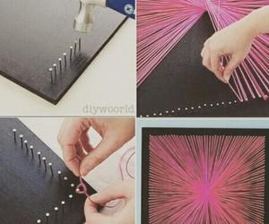diy, pink, and art image