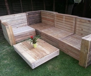 pallet patio furniture, pallet outdoor furniture, and pallet furniture image