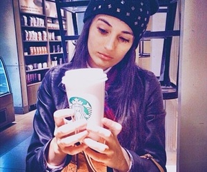 coffe, model, and starbucks image