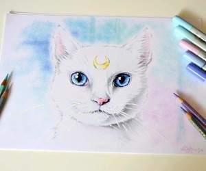art, artemis, and sailor moon image