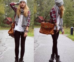 bag, blond hair, and boots image