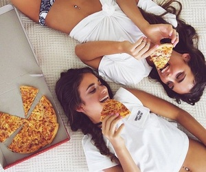 pizza, friends, and friendship image