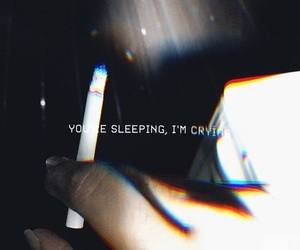 cigarette, bored, and broken image