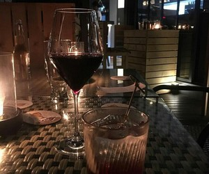 wine, aesthetic, and dark image