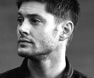 black and white, Jensen Ackles, and actor image