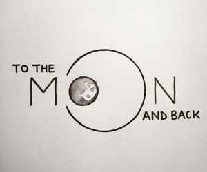 moon, quotes, and art image