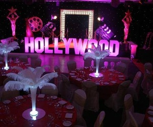 decoration, hollywood, and parties image