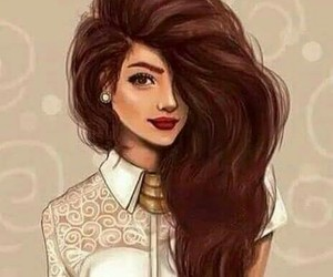 art, beautiful, and hair image