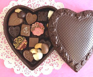chocolate, gifts, and heart image