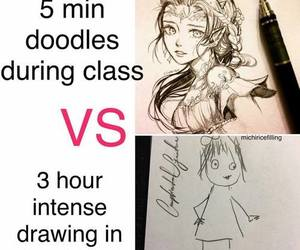 drawing, funny, and meme image