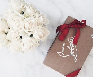 flowers, louboutin, and luxury image