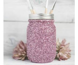 glitter, diy, and pink image