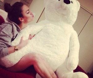 girl and teddy bear image
