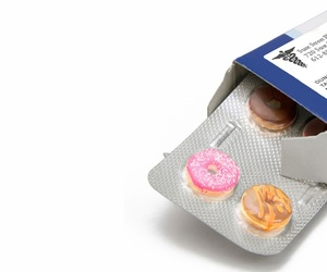 donuts, pills, and food image