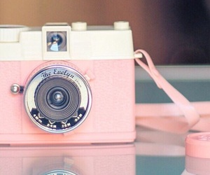pink, camera, and wallpaper image