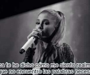 ariana grande, frases, and spanish image