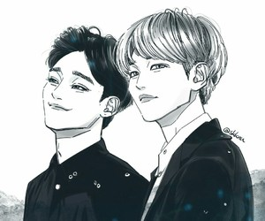asian, Chen, and exo image