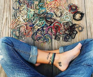 ankle, ink, and jeans image