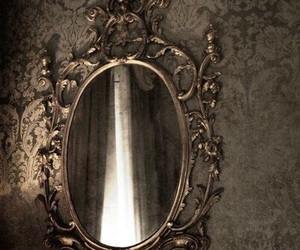 mirror, black, and dark image