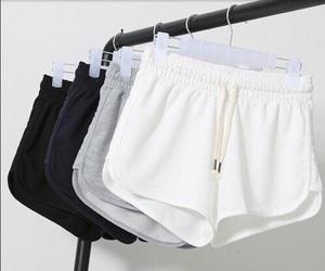 fashion, shorts, and white image